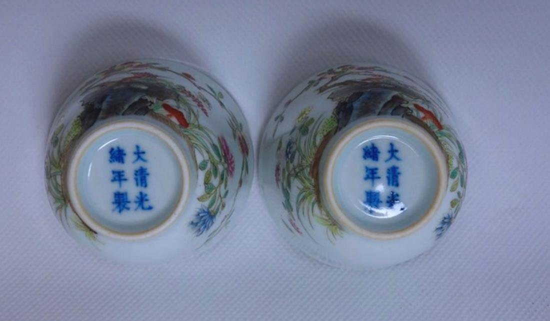 Pair Of Chinese Famille Rose Porcelain Vase - 6