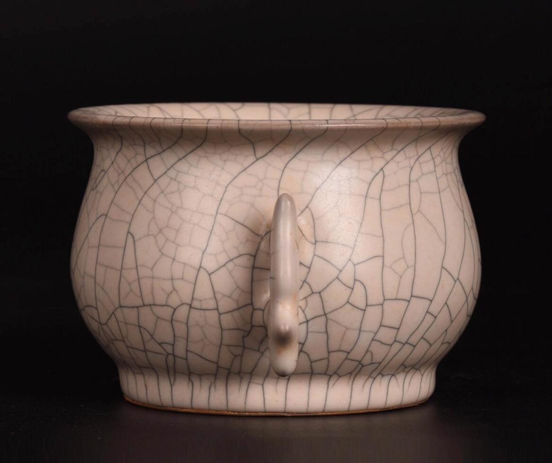 Chinese Ge Glaze Double Ears Porcelain Burner - 2