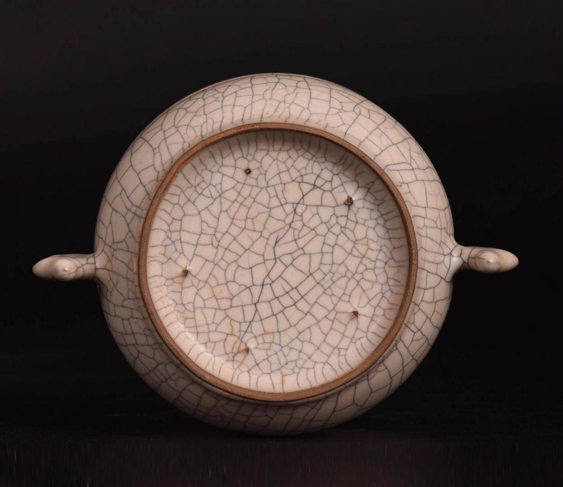 Chinese Ge Glaze Double Ears Porcelain Burner - 5