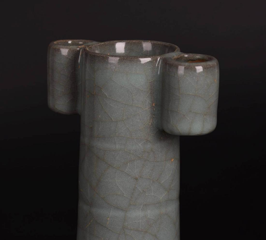Chinese Ge Ware Porcelain Vase - 7