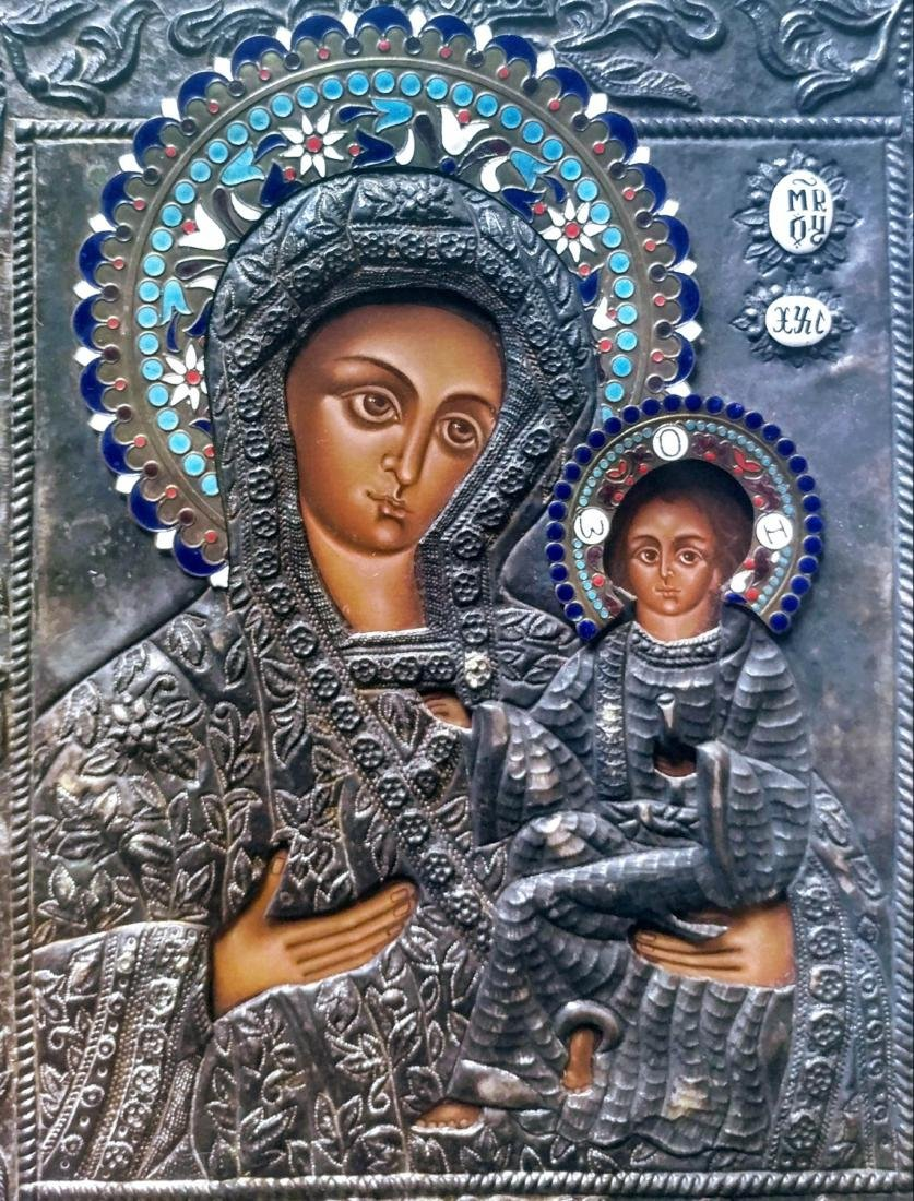 _x000D_ Russian Color enamel icon.