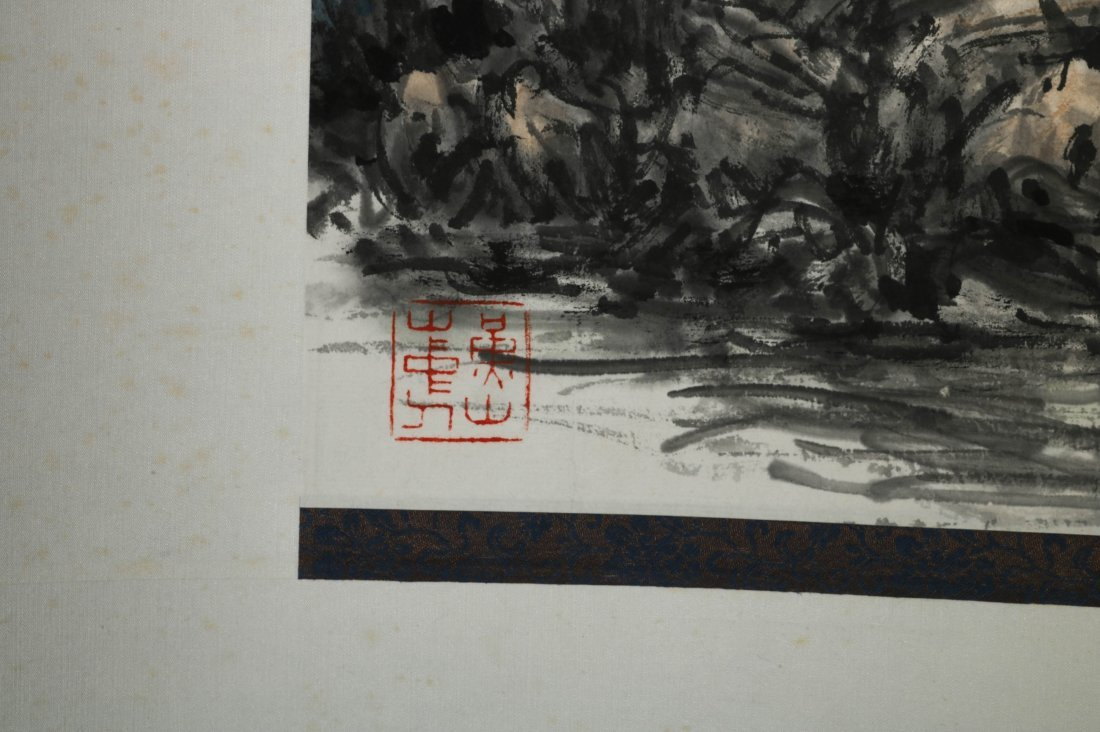 Chinese Watercolor Scroll Painting, Signed - 8