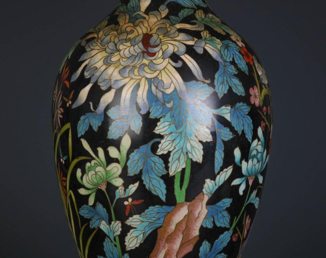 Chinese Cloisonne Vase - 3