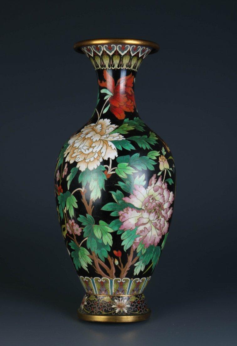 Chinese Cloisonne Vase - 5