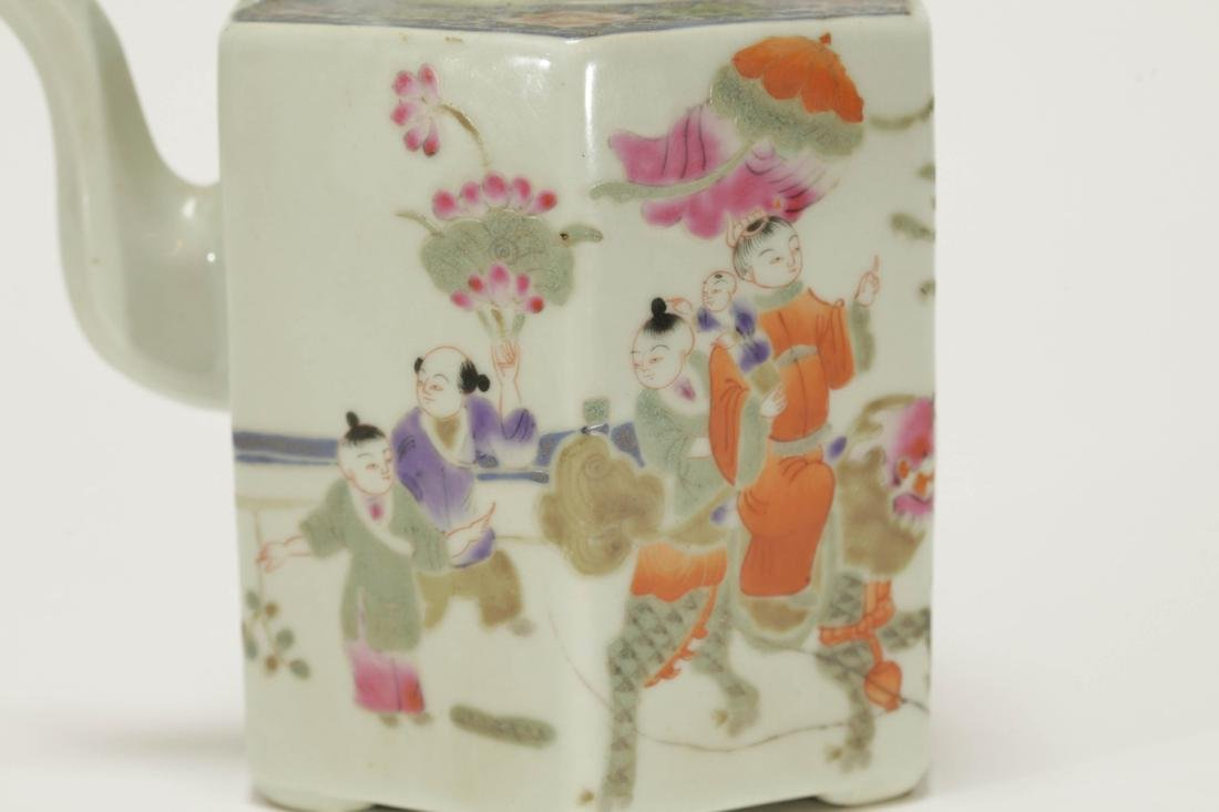 Chinese Early 20th C. Porcelain Teapot - 2