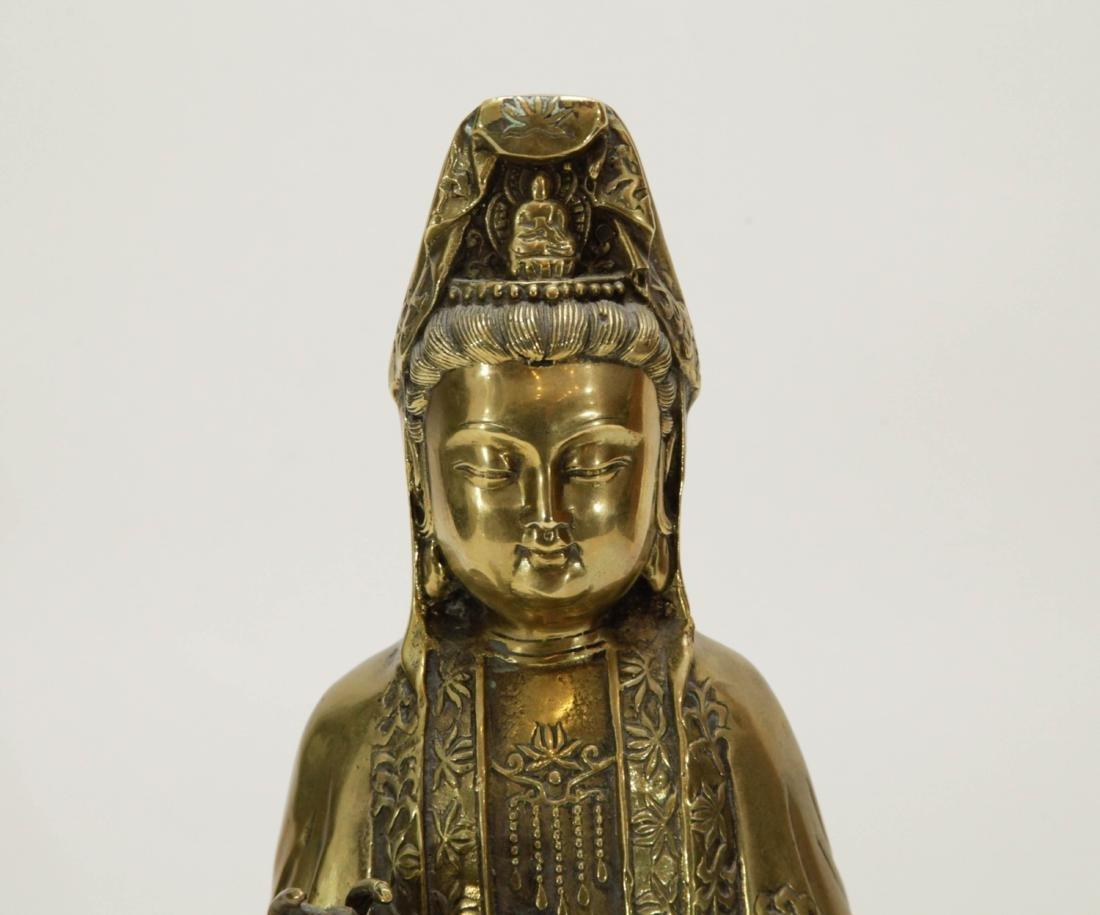 Chinese Bronze Guanyin - 2