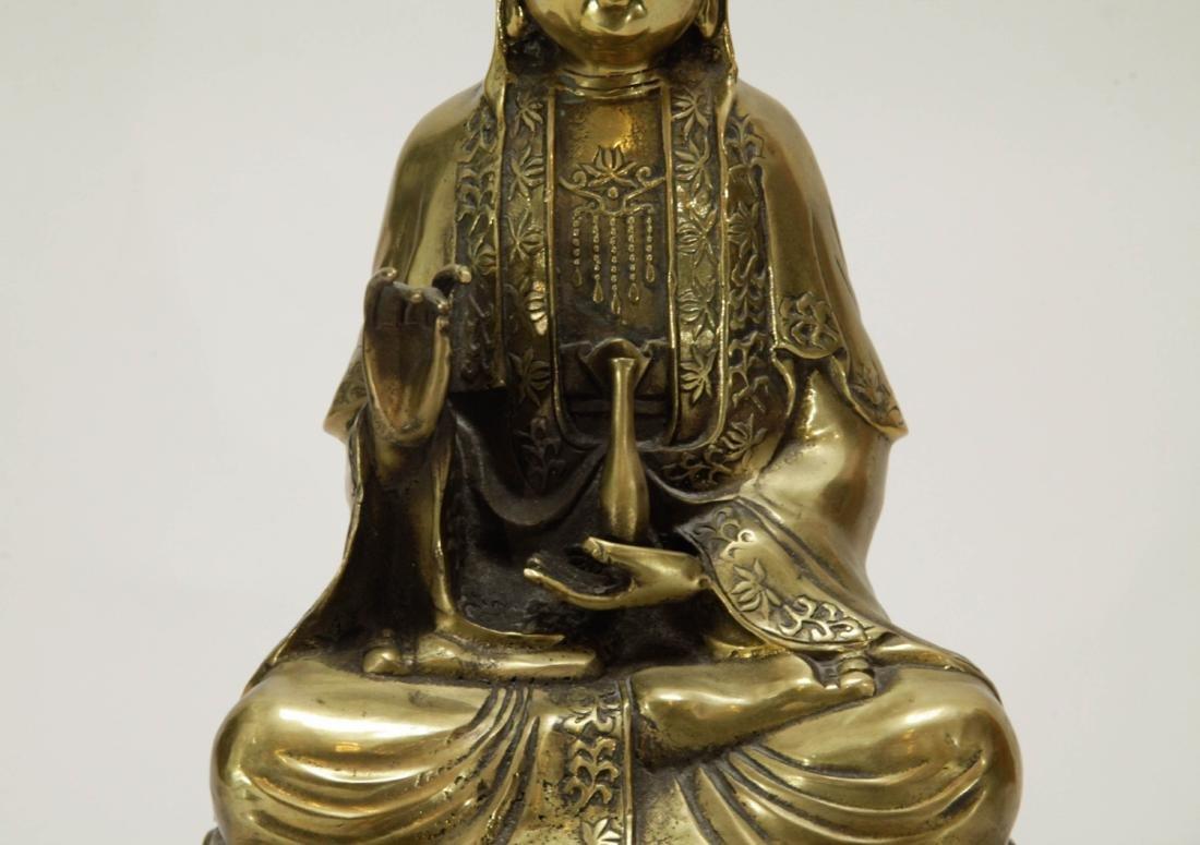 Chinese Bronze Guanyin - 3