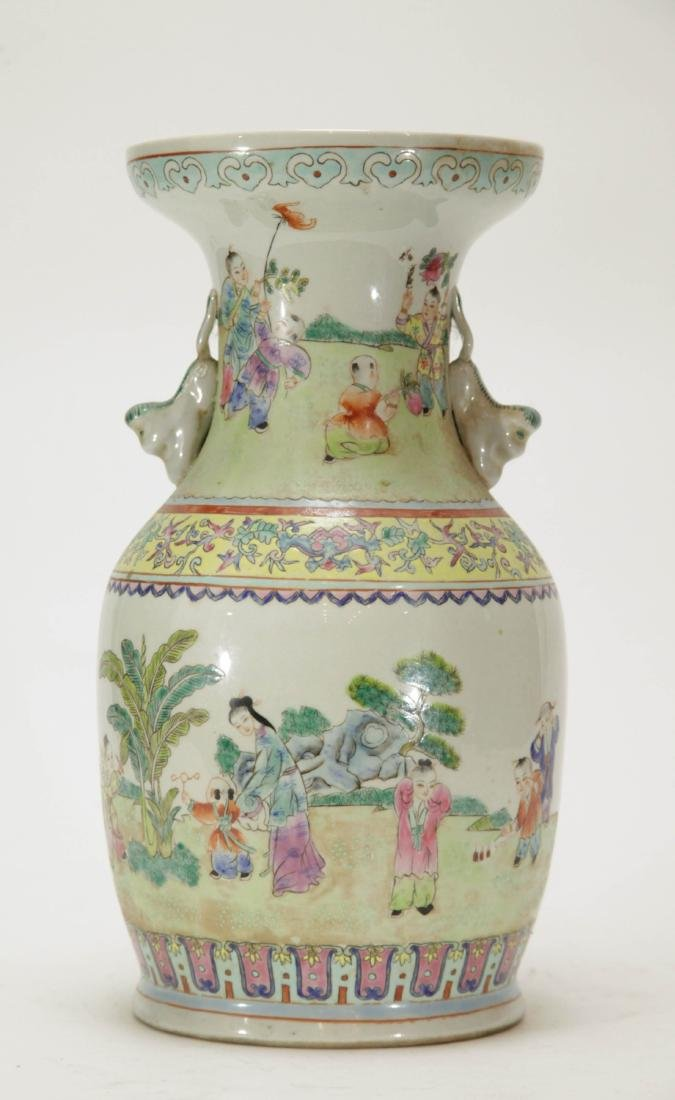 Chinese Porcelain Vase w/ Children Playing