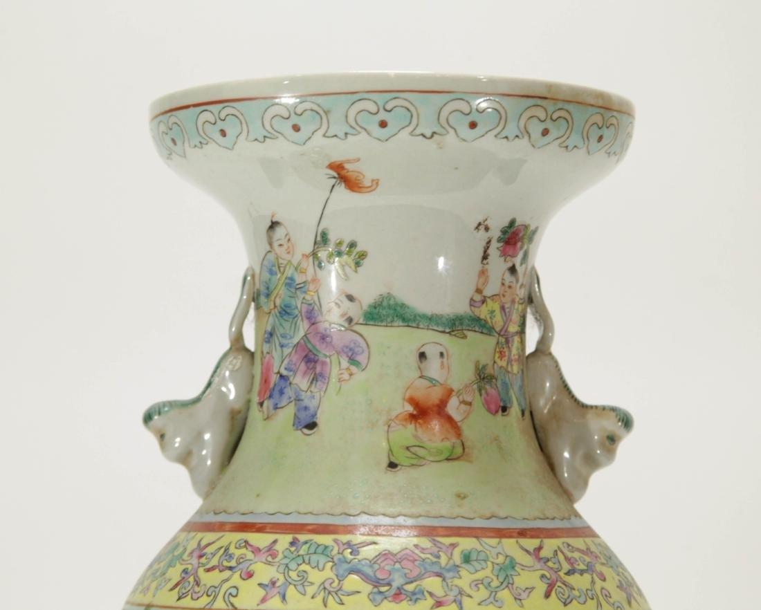Chinese Porcelain Vase w/ Children Playing - 2