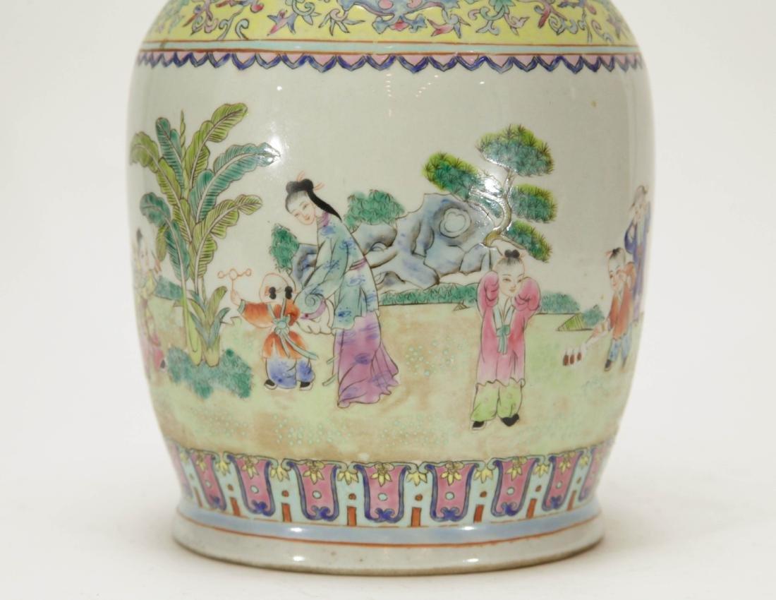 Chinese Porcelain Vase w/ Children Playing - 3