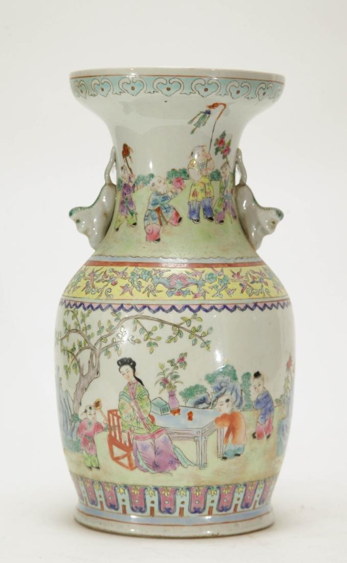 Chinese Porcelain Vase w/ Children Playing - 5