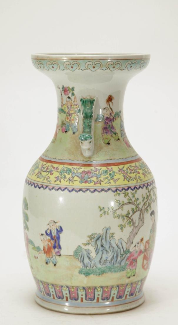 Chinese Porcelain Vase w/ Children Playing - 6
