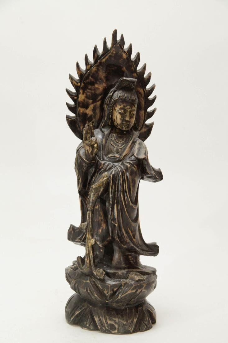 Chinese Wood Carving of Guanyin
