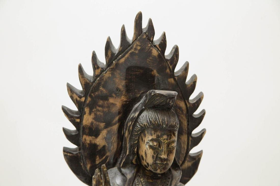 Chinese Wood Carving of Guanyin - 2