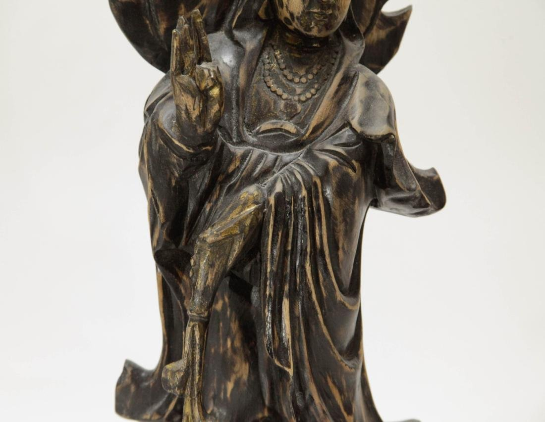 Chinese Wood Carving of Guanyin - 3
