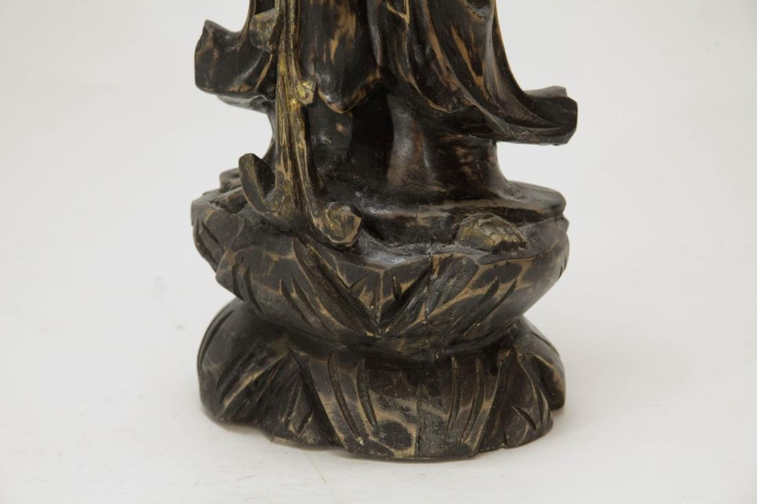 Chinese Wood Carving of Guanyin - 4