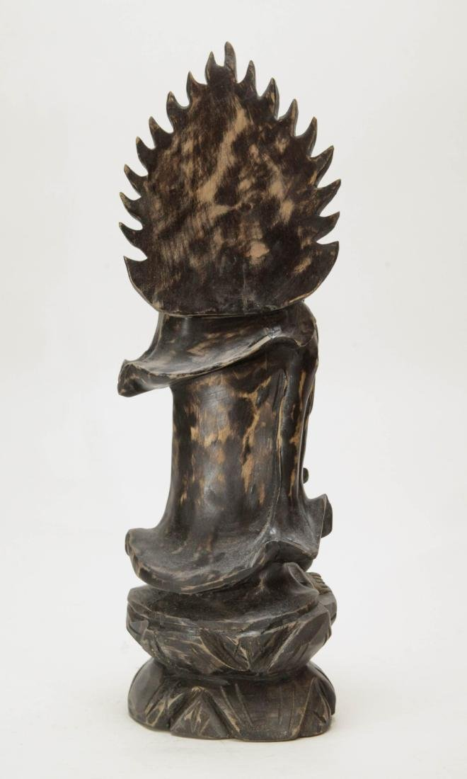 Chinese Wood Carving of Guanyin - 5