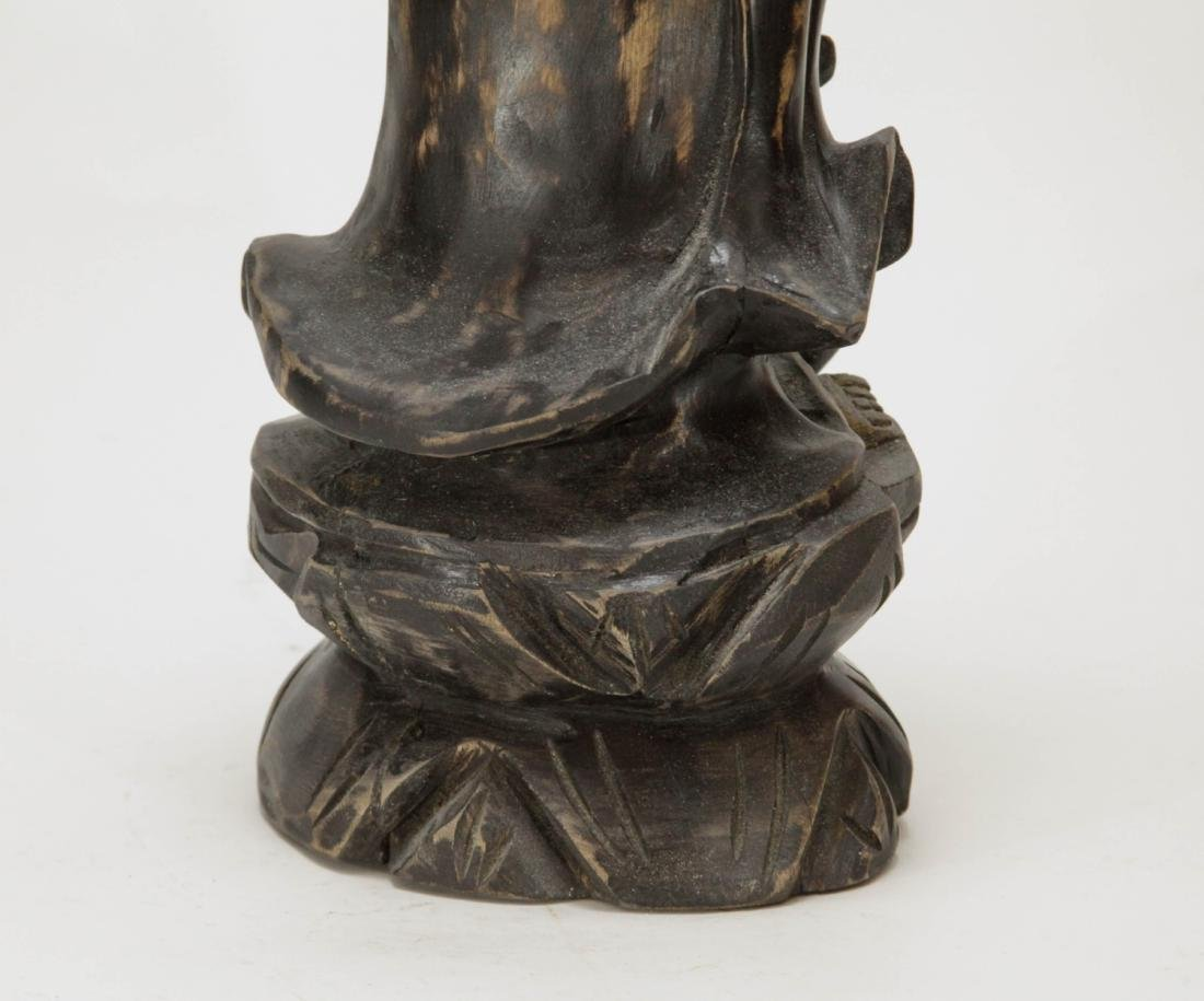 Chinese Wood Carving of Guanyin - 7