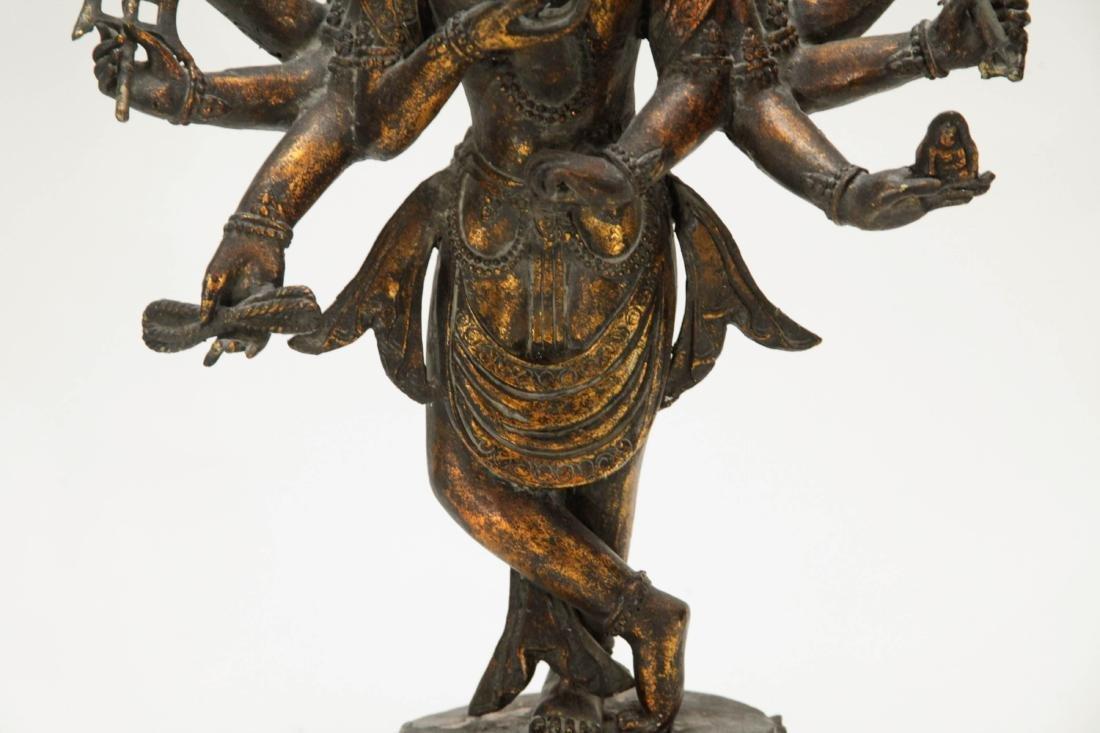 Tibetan Bronze Multiple Heads Buddha - 4