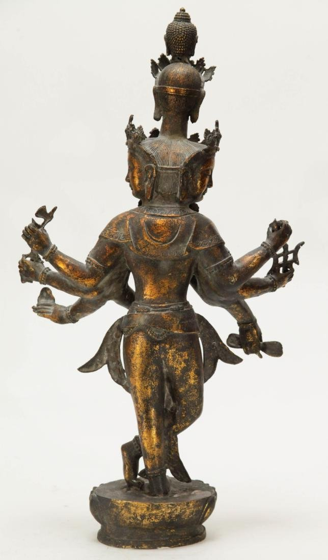 Tibetan Bronze Multiple Heads Buddha - 6