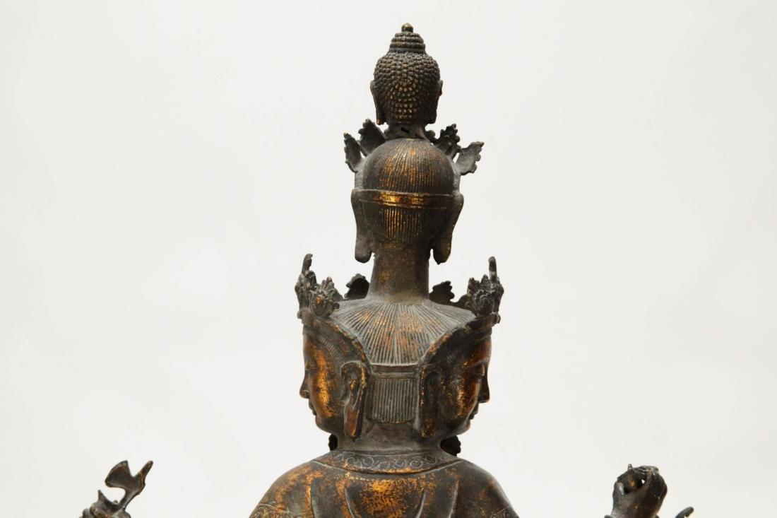 Tibetan Bronze Multiple Heads Buddha - 7