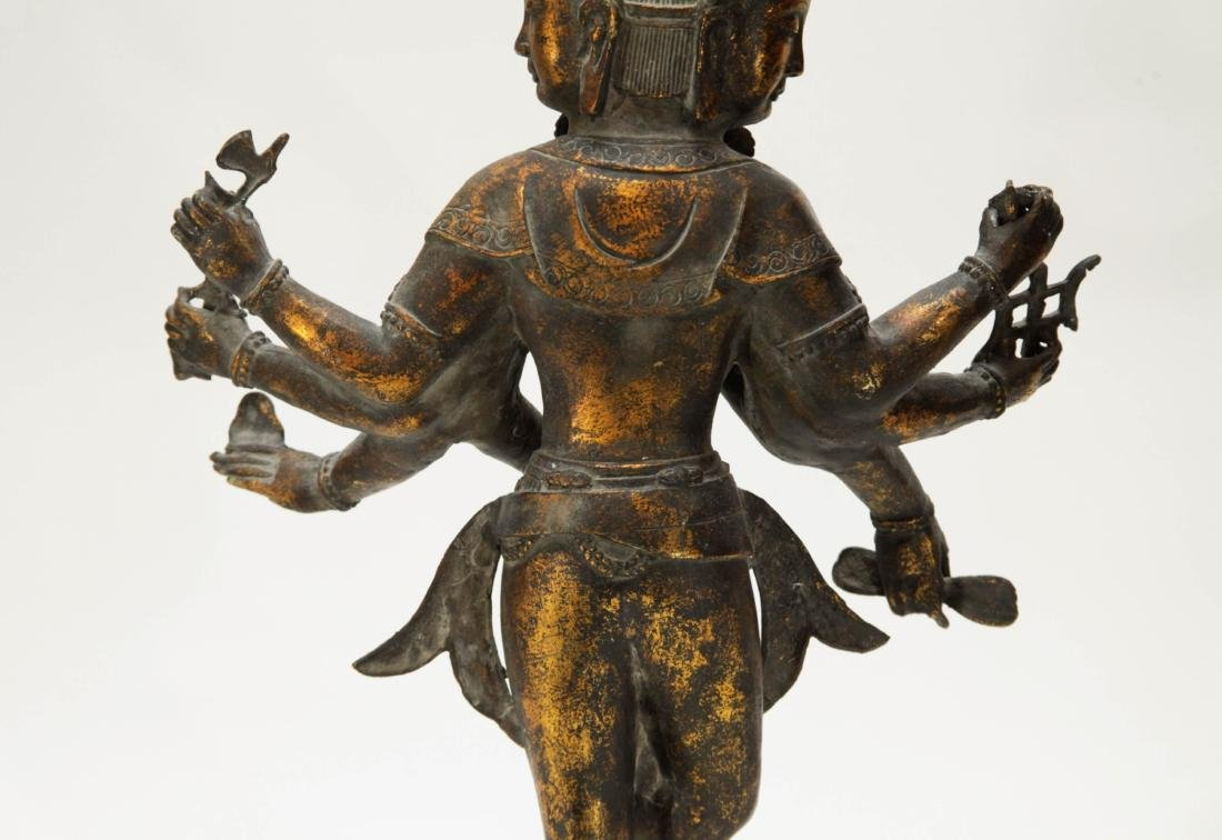 Tibetan Bronze Multiple Heads Buddha - 8