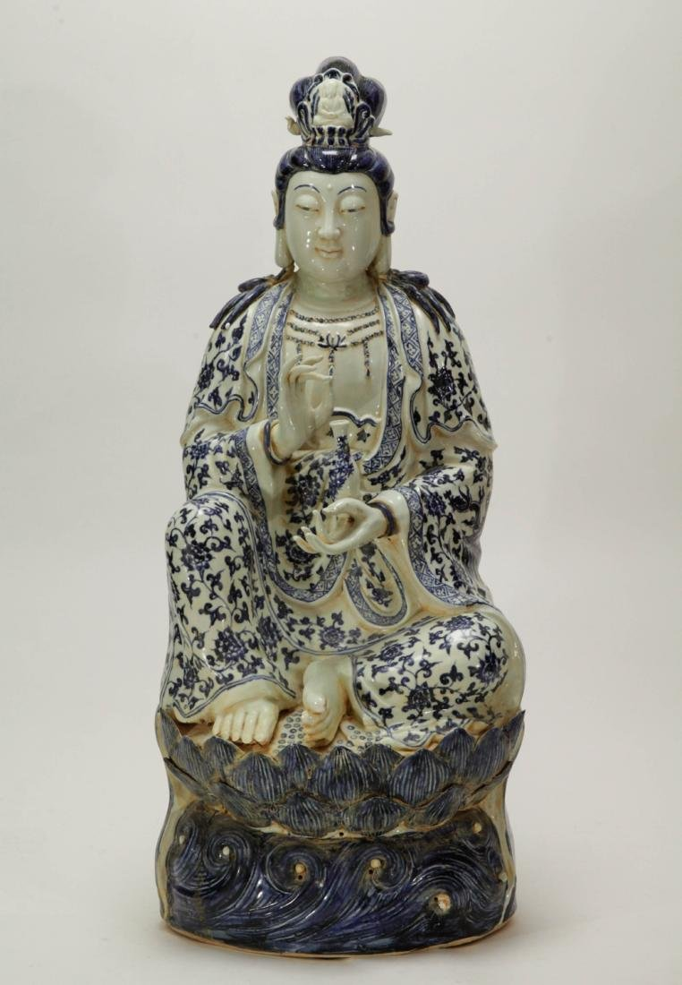 Chinese Porcelain Blue/White Guanyin