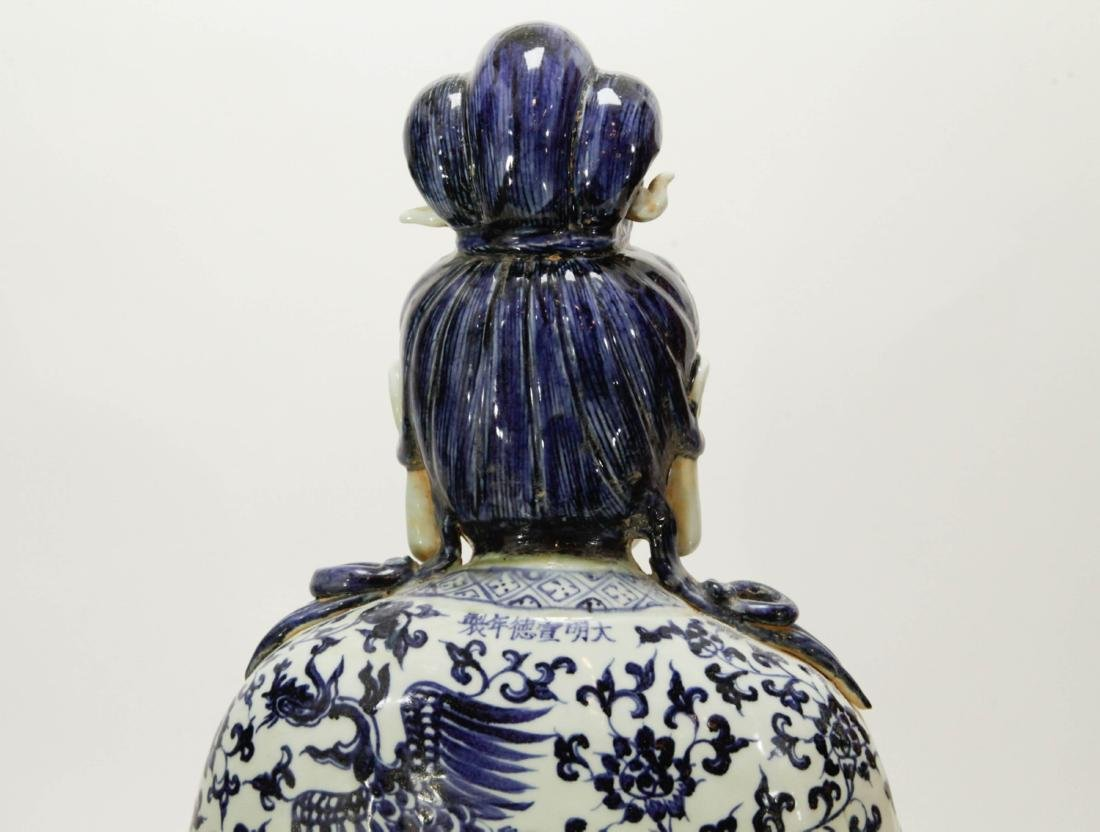 Chinese Porcelain Blue/White Guanyin - 7