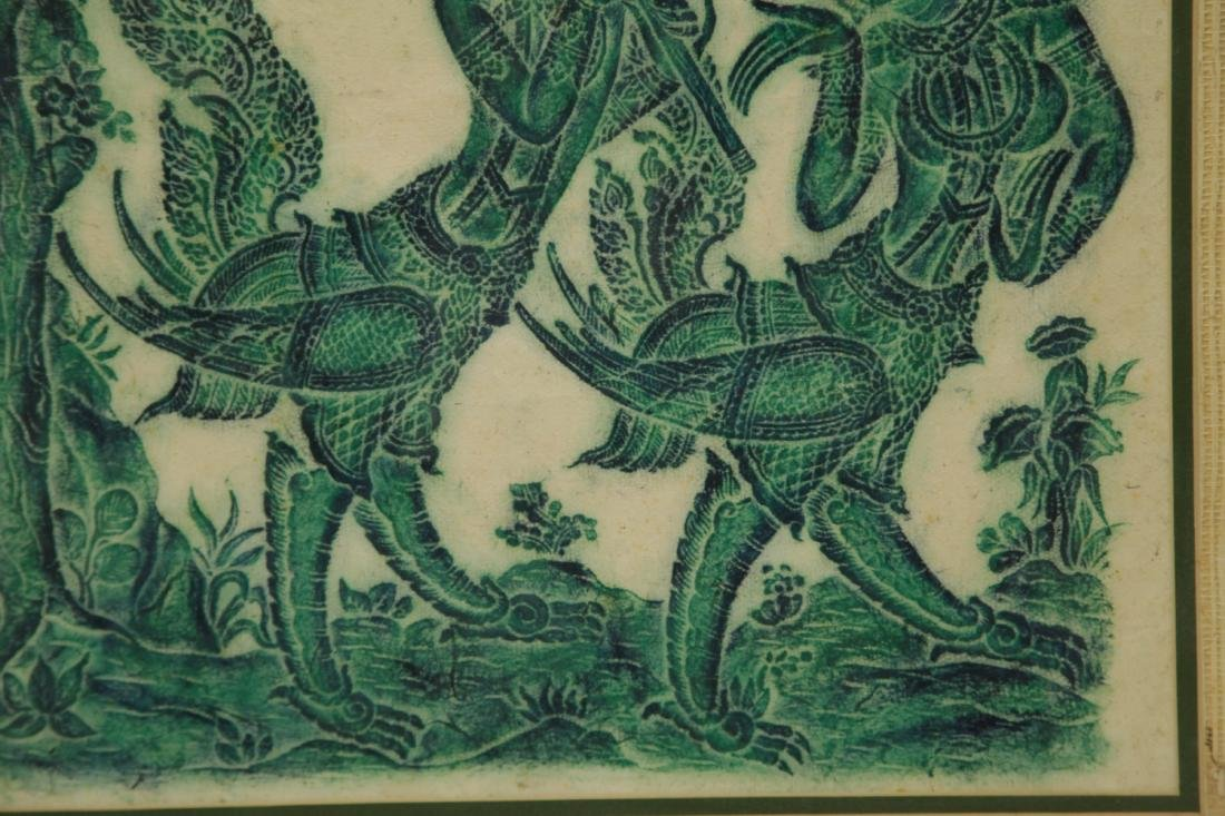 Indian Painting w/ Two Mythical Figures - 3
