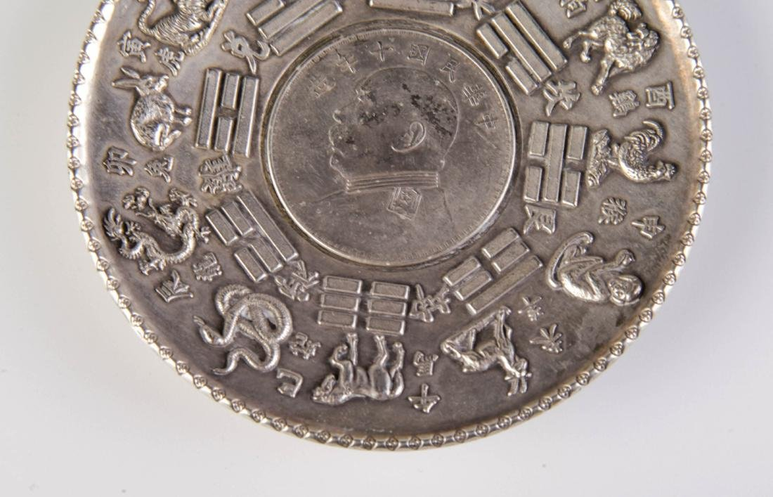 Chinese Republic Possible Silver Ash Tray - 3