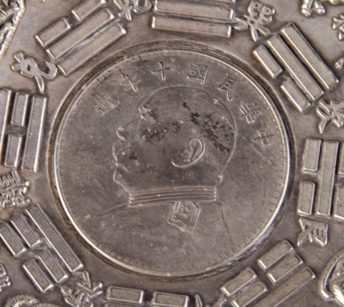 Chinese Republic Possible Silver Ash Tray - 4
