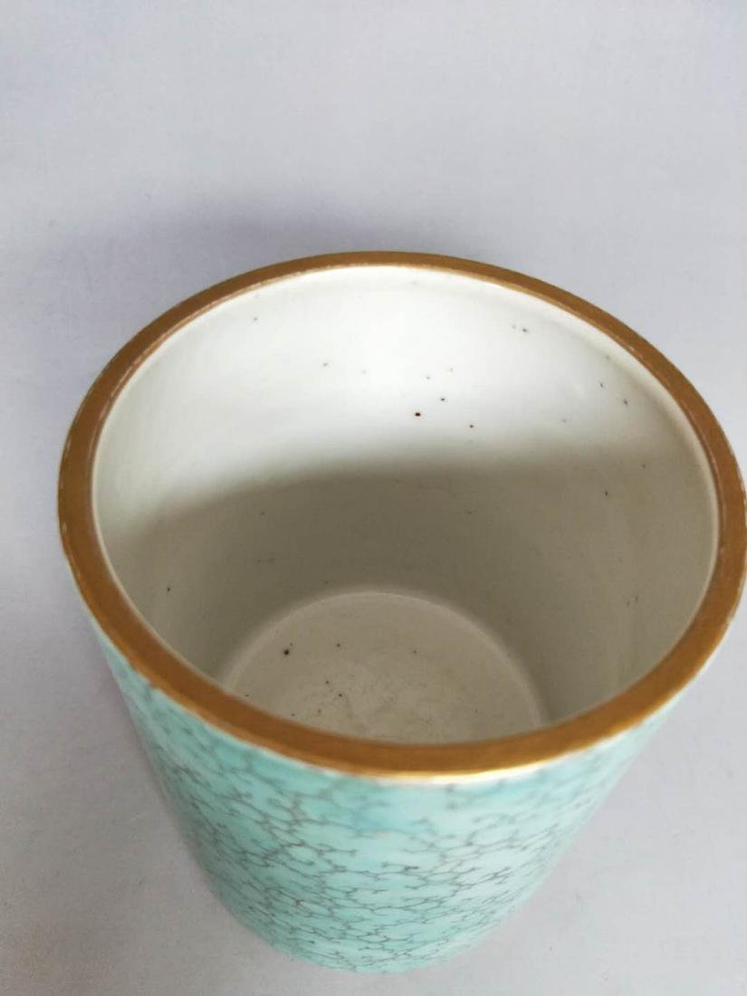Chinese Famille Rose Porcelain Brush Pot - 2