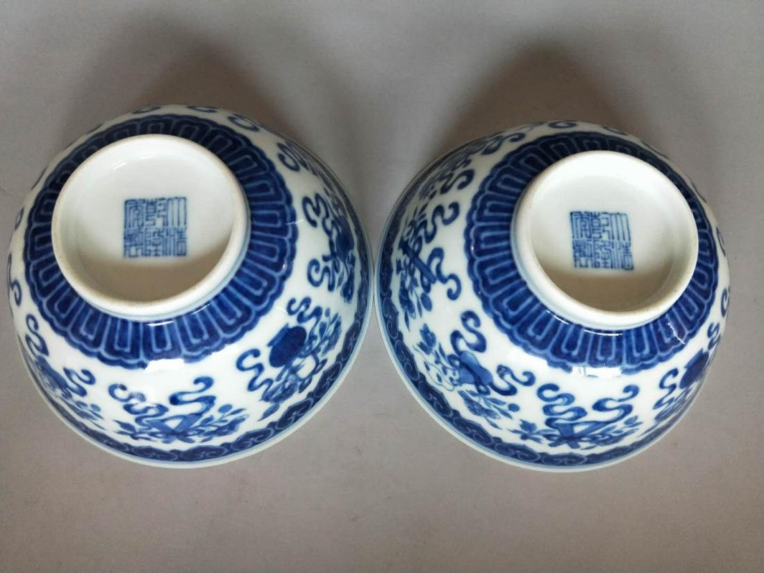 Pair Of Chinese Blue And White Porcelain Bowl - 3
