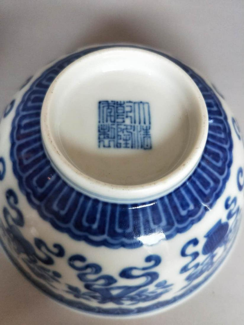 Pair Of Chinese Blue And White Porcelain Bowl - 5