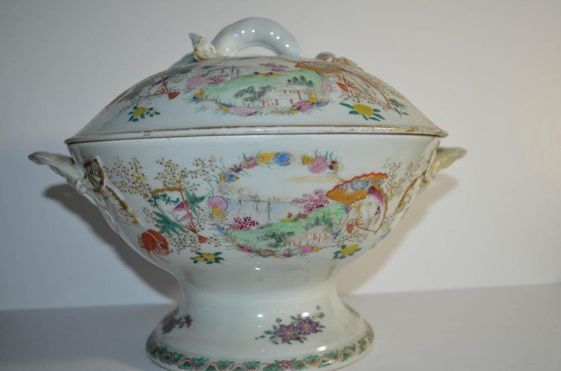 Japanese 18th C. Porcelain Bowl with Cover