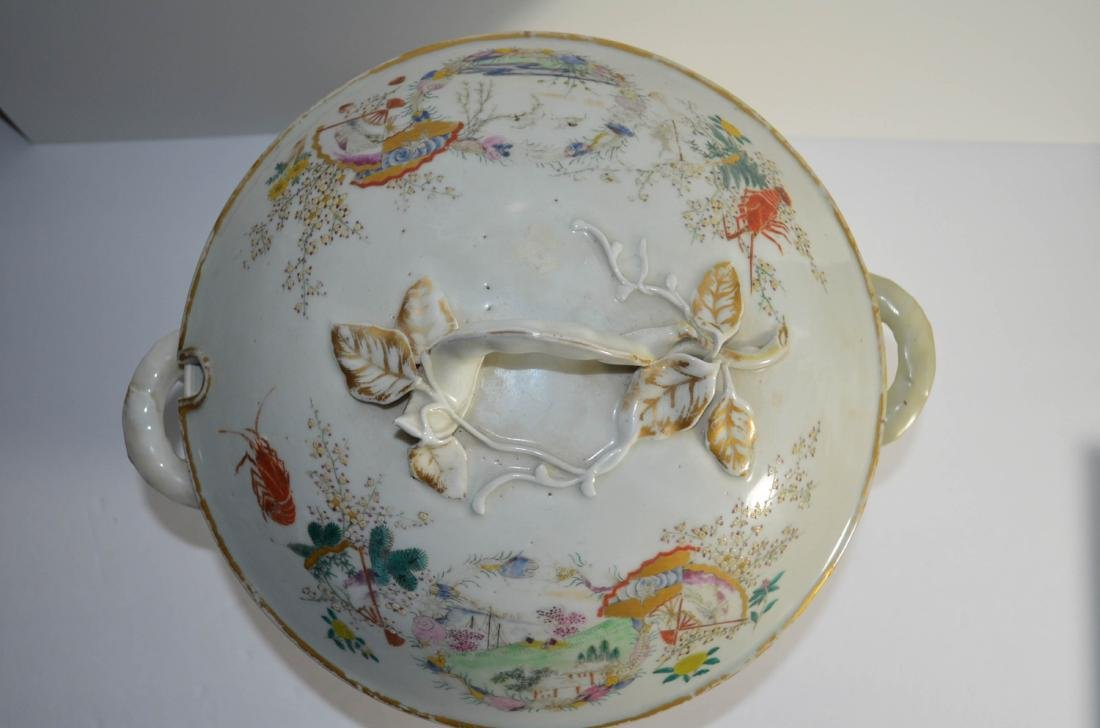 Japanese 18th C. Porcelain Bowl with Cover - 2
