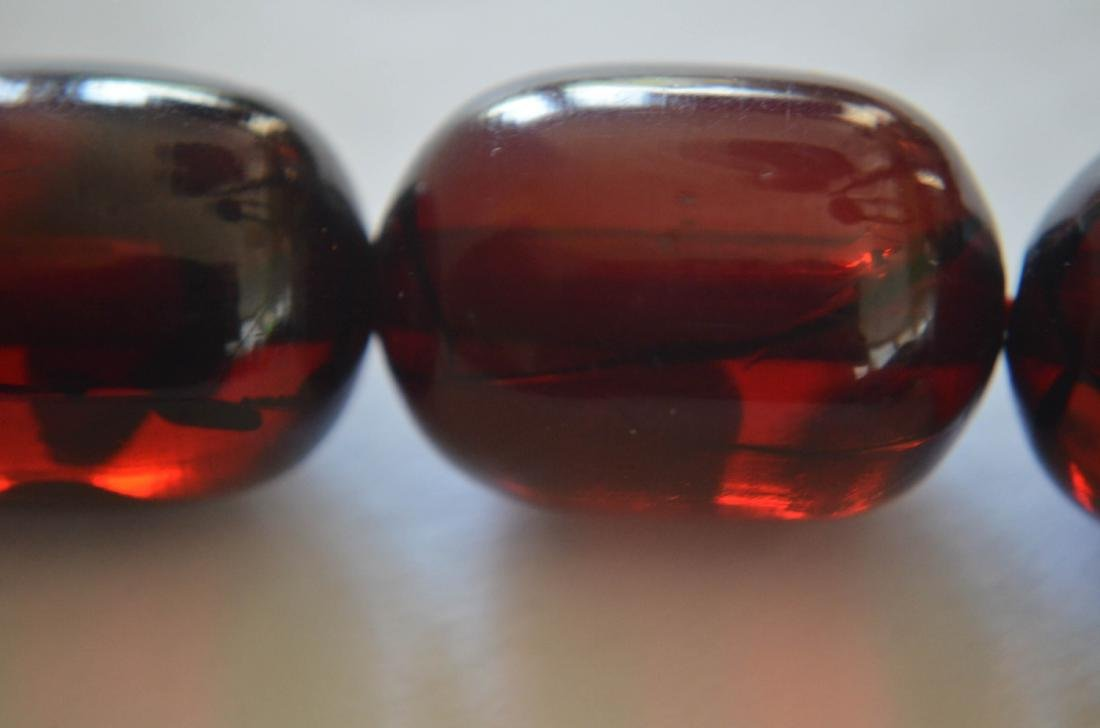 Old Cherry Amber Necklace - 2