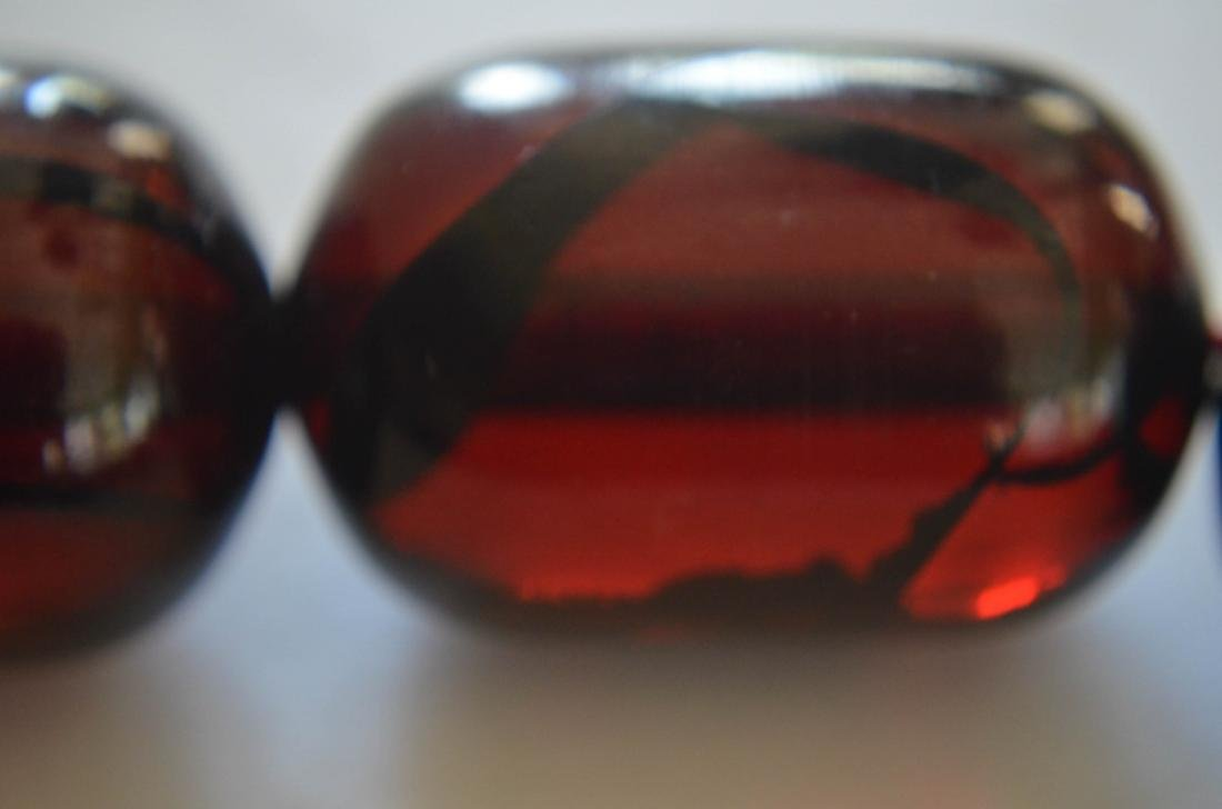 Old Cherry Amber Necklace - 3