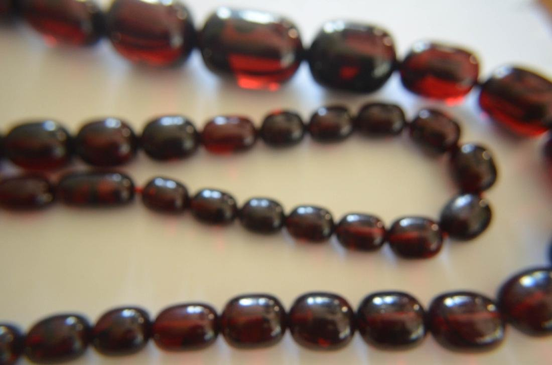 Old Cherry Amber Necklace - 4