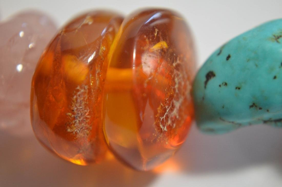 Two Amber and Turquoise Necklaces - 7