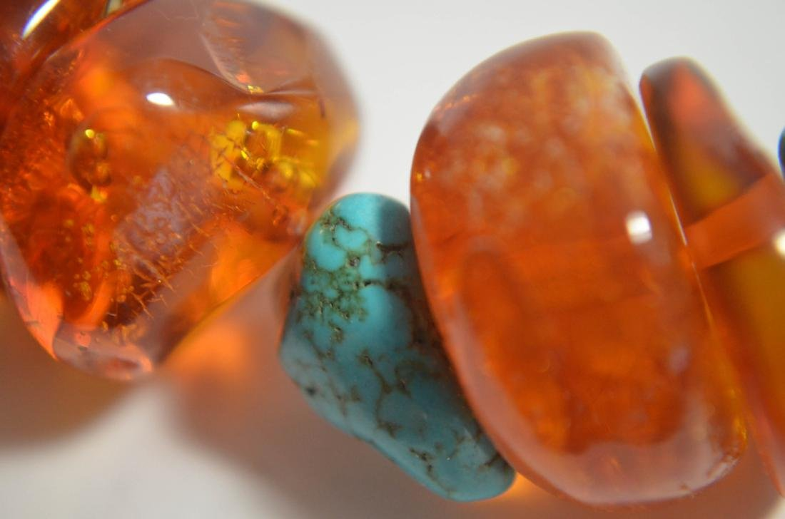Two Amber and Turquoise Necklaces - 8