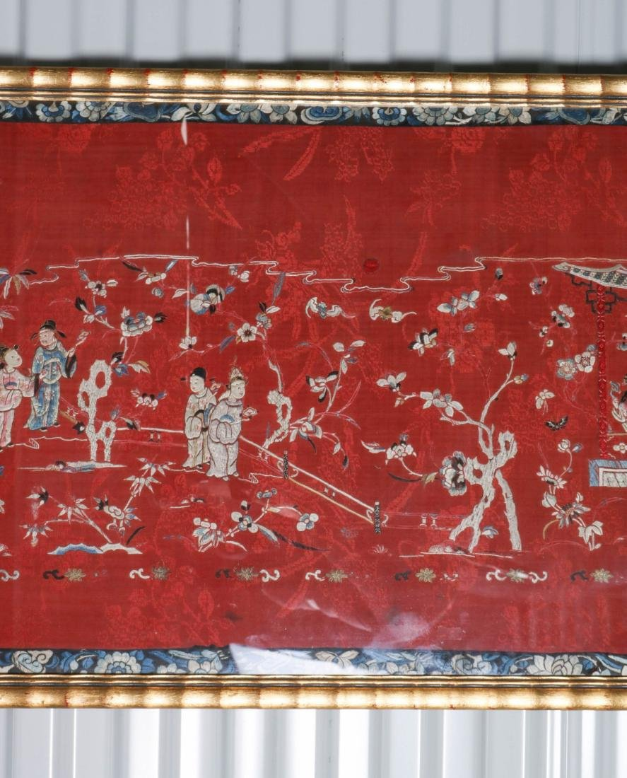 Chinese Silk Textile of Group of People, 19-20th C - 3
