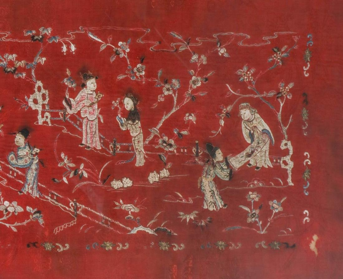Chinese Silk Textile of Group of People, 19-20th C - 6