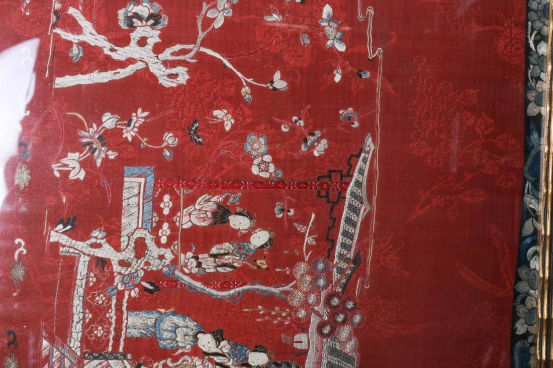 Chinese Silk Textile of Group of People, 19-20th C - 7