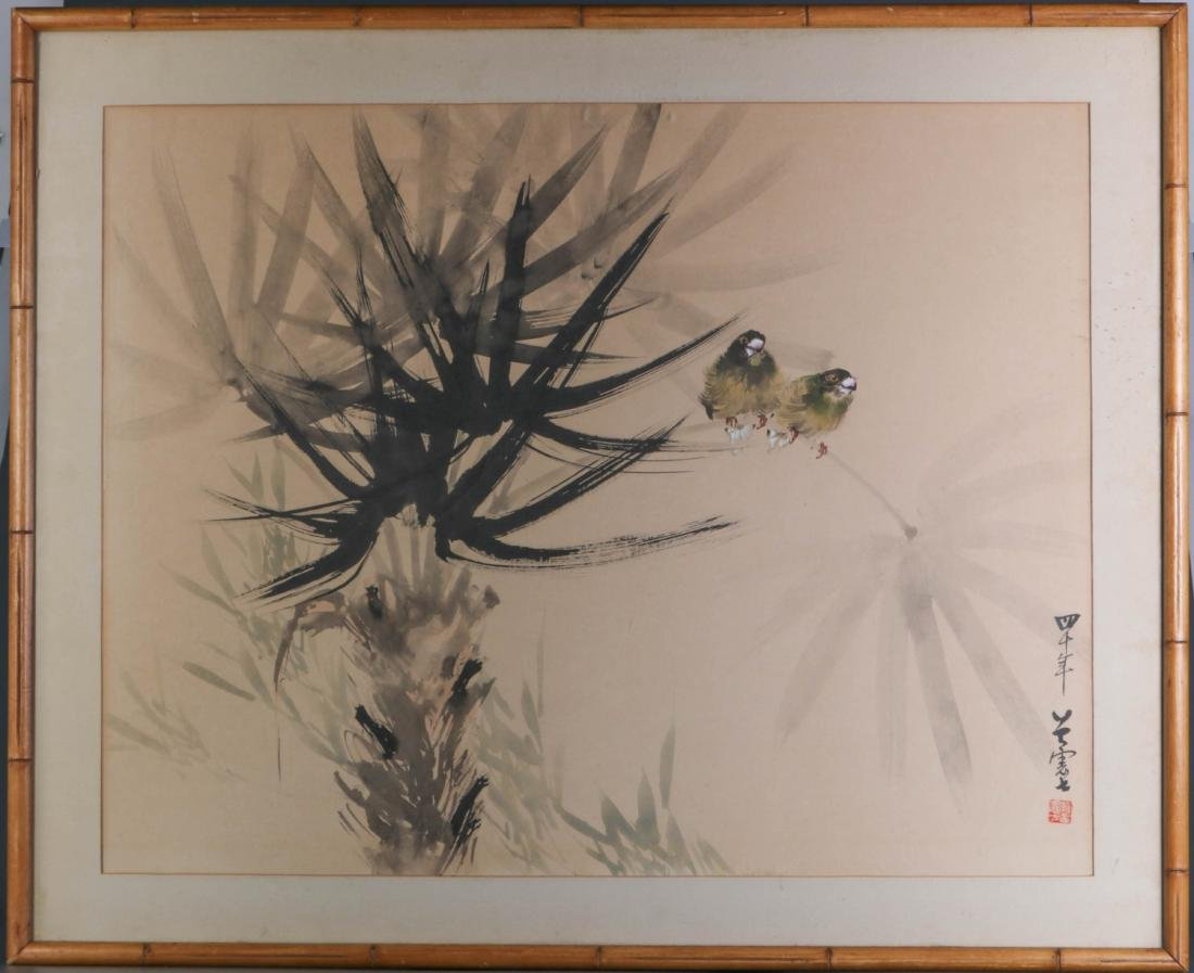 Chinese Watercolor Painting of Birds