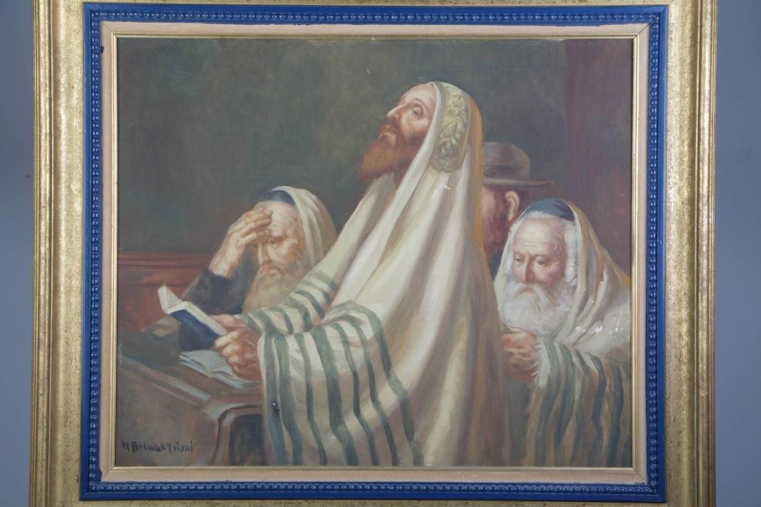 Oil on Canvas of Yonkippur Prayer
