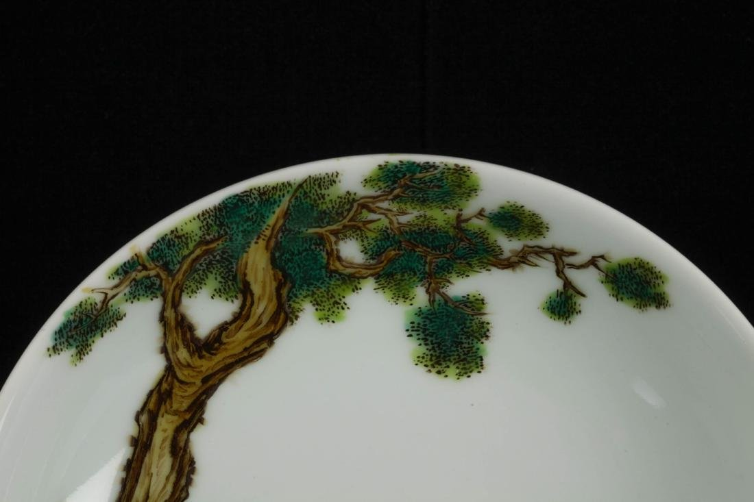 wd Chinese Porcelain Plate, Marked Xu Kai Tai - 2