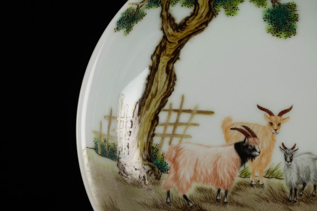 wd Chinese Porcelain Plate, Marked Xu Kai Tai - 3