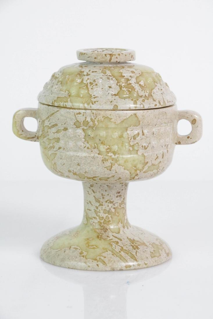 Chinese Jade cup with cover