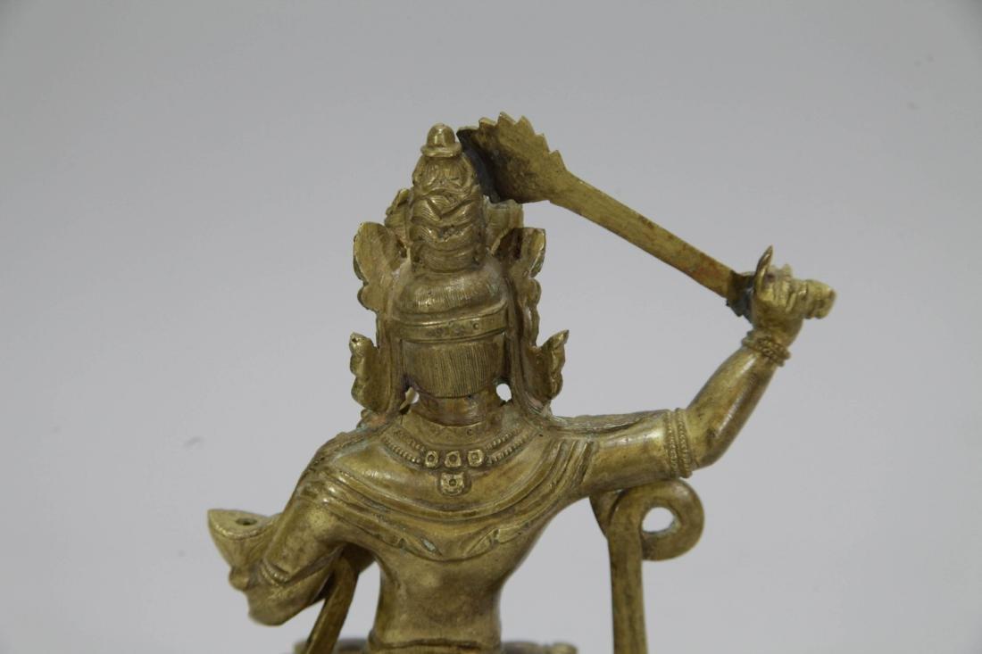 Chinese Gilt Bronze Seating Buddha - 6